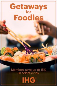 If you love food, then you'll love these locations. Discover the perfect Reuben in New York City, deep dish pizza in Chicago, or traditional Creole cooking in New Orleans. IHG has hotels in all of these foodie destinations. Become a member and save up to 15% in select cities.