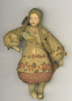 Russian dressed ornament cotton batting lt 19th /early 20th c collection Linda Pastorino