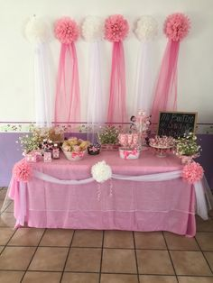49 Ideas Baby Shower Ideas For Girls Mermaid Parties Food Girl Baby Shower Decorations, Birthday Party Decorations, Wedding Decorations, Birthday Parties, Shower Party, Baby Shower Parties, Bridal Shower, Ballerina Party, Baptism Party