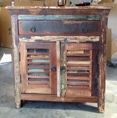 reclaimed end table I have 2 love