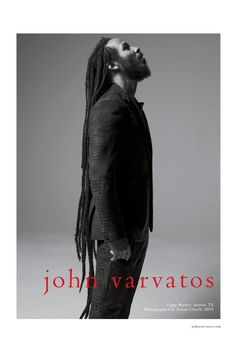 John Varvatos shines to the spotlight on reggae icons Ziggy and Stephen Marley for the new Spring/Summer 2015 campaign. Shot in Austin, Texas by photographer Danny Clinch, the black and white image… John Varvatos, Jermaine Stewart, Marley Brothers, Stephen Marley, Gentleman Shop, Marley Family, Calvin Klein, Afro Men, Fashion Brand