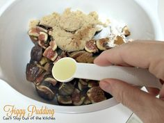 This delectable dessert is great served as a traditional English dessert during the holiday season. Made with fresh figs, this cobbler-type dessert is to die for! Oh, bring us a Figgy Pudding and a cup of good cheer! Fig Recipes, Pudding Recipes, Recipe Using Figs, English Desserts, Southern Peach Cobbler, Figgy Pudding, Fig Cake, B Recipe, Hot Apple Cider