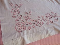 Antique French linen dowry sheet w by MyFrenchAntiqueShop on Etsy