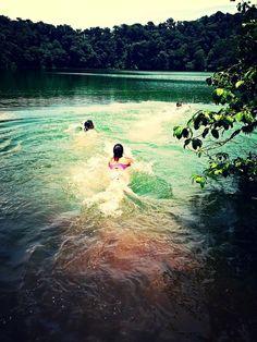 Laguna Cerro Chato - swimming in a crater!
