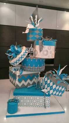 Crazy fun wedding cake... Visit http://www.brides-book.com for more great wedding resources