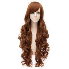 80cm Long Wavy Lolita Fashion Lady Cosplay Wig + Wig Cap: Amazon.co.uk: Beauty