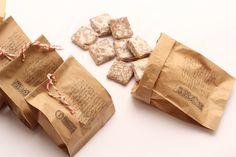 Saquinho com palha italiana! Fudge, Brownie Packaging, Brownies, Chocolate Cupcakes, Cupcake Cakes, Bakery, Food And Drink, Meals, Sweet