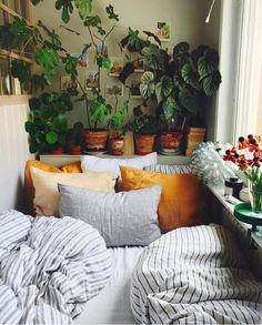 Big Kitchen Trends In 2016 - Interior Decor and Designing Room Ideas Bedroom, Small Room Bedroom, Bedroom Decor, Small Rooms, Small Bathrooms, Small Spaces, Cozy Bedroom, Autumn Interior, Decoration Chic