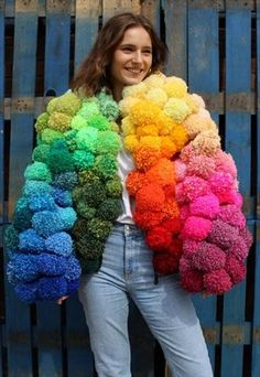 Irish fashion news ASOS Marketplace launch online charity shop, the perfect place for you to shop and find all your vintage gems. Pom Pom Jackets, Pom Pom Sweater, Irish Fashion, Festival Shop, Vintage Mode, Crochet Patterns For Beginners, Craft Stick Crafts, Diy Clothes, Custom Clothes