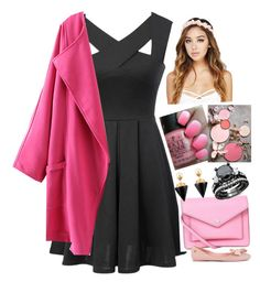 """Pink me up!"" by amazin-maze on Polyvore featuring Marc by Marc Jacobs, OPI, Melissa, Wet Seal, Vita Fede, dressy, Glamour, outfits, pinkandblack and fashionset"