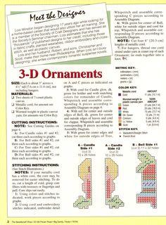 """~""""3 D Ornaments""""~  Pg 2/4"""