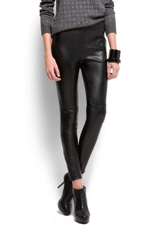 Leather skinny trousers - mango