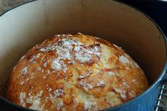 Crusty Bread it literally takes 2 minutes to stir together the dough - let it sit overnight and then bake.