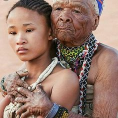 Came across this image. Had to share it. Deeply moving.  No hashtag.  @Regrann from @problackwomanism -  Khoisan grandmother and granddaughter of South Africa. The world's oldest group of people. #readventures #reathegal #readagal