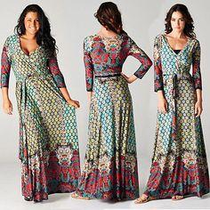 Bohemia-multicolor-red-Jersey-Maxi-Vestido-Wrap-marroqui-Mosaico-x-long-Falda-Boho