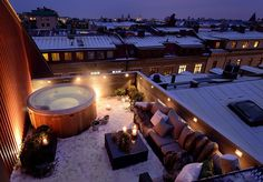 In this rooftop hot tub in Gothenburg, Sweden. | 30 Places You'd Rather Be Sitting Right Now