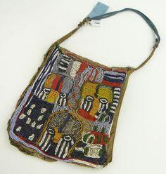 An Apo Isa beaded designers bag, Yoruba, across African Masks, African Art, Textile Jewelry, Textile Art, Beaded Bags, Woven Bags, Tribal Bags, Yoruba, African Trade Beads