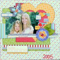 Your sweet!! Cute scrapbook layout.
