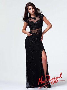 411e2c6d58 Black Prom Dress With Illusion Neckline
