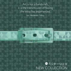 This is Aquacake, the new slim #belt from #Vintage #Collection.