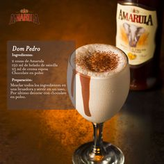 Dom Pedro Dessert Drinks, Party Drinks, Cocktail Drinks, Alcoholic Drinks, South African Desserts, South African Recipes, Ethnic Recipes, Koeksisters Recipe, Happy Hour Drinks