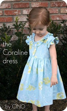 Gorgeous sewing tutorial for this little dress  http://www.craftinessisnotoptional.com/2012/02/coraline-dress.html