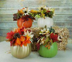 Pumpkin Centerpiece Fall Decor Thanksgiving by ThatDreamYouDream