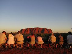 Watching the on Red Centre, Ayers Rock, Adventure Tours, Rock Art, Geology, Wildlife, Australia, Sunset, History