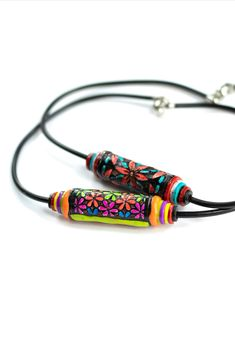 A photo of a beautiful colorful necklace made by Adela Neff using LC Microstencils Set 11, liquid clay Color Glassymer and polymer clay. Faux Stained Glass, Stained Glass Projects, Pattern Weights, Color Plan, Simple Colors, 3d Projects, Pattern Paper, Pattern Making, Stencils