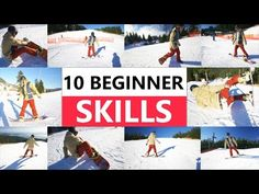 10 Beginner Snowboard Skills - First Day Riding Snowboarding For Beginners, Snowboarding Tips, Freestyle Snowboard, Winter Fun, Extreme Sports, Outdoor Life, Top Gear, Olympic Games, Workout Challenge
