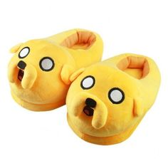 Adventure Time Jake Slippers ❤ liked on Polyvore featuring shoes and slippers
