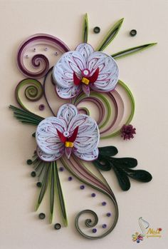 quilled orchids | Quilling cards - orchids