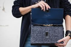 Handbag DIY - How to attach a strap to a clutch and turn it into a shoulder bag.