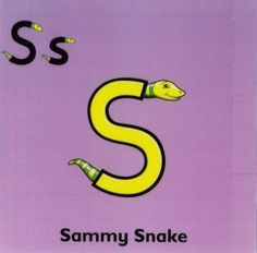 Let's start with singing the Song of Sammy Snake to the tune of Sing a song of sixpence Sammy Snake says 'sss. Phonics Lessons, Grammar Activities, Kid Activities, Teaching The Alphabet, Teaching Kids, Letterland Costumes, Opposites Worksheet, Made Up Words, English Worksheets For Kids