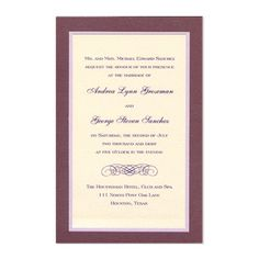 Sophie 3-Layer Wedding Invitations by MyGatsby.com