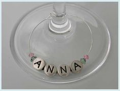 Silver Round Name Wine Names, Client Gifts, Wine Glass Charms, Wine Parties, Wine Online, Silver Rounds, Favours, Kitchen Decor, Christmas Crafts
