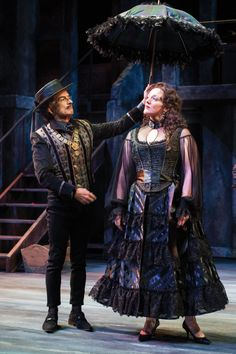 "David Pichette as Malvolio and Melinda Pfundstein as Olivia in Utah Shakespeare Festival's 2014 production of ""Twelfth Night."" (Photo by Karl Hugh. Copyright 2014 Utah Shakespeare Festival.) www.bard.org, #utahshakes, #twelfthnight"