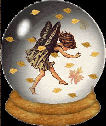 Funny Autumn angels | animated gifs of autumn- angel in crystal ball