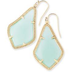 Kendra Scott Alex Earrings in Chalcedony ($55) ❤ liked on Polyvore featuring jewelry, earrings, 14 karat gold earrings, 14k earrings, earring jewelry, 14 karat gold jewelry and metallic jewelry