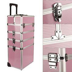 Yorbay® Kosmetikkoffer Beautycase ALU Trolley Friseurkoffer Schminkkoffer Schmuckkoffer (XXL, Pink): Amazon.de: Koffer, Rucksäcke & Taschen