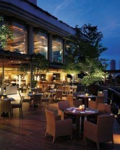 Shangri-La Bangkok  ( Bangkok, Thailand )  The hotel has four restaurants offering an international smorgasbord. #Jetsetter