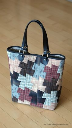 Japanese Bag, Denim Bag, Purses And Bags, Reusable Tote Bags, Quilts, Tote Pattern, Fabric, Blog, Sewing Ideas