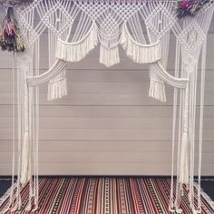A personal favourite from my Etsy shop https://www.etsy.com/au/listing/269759727/macrame-wedding-backdrop-wall-hanging