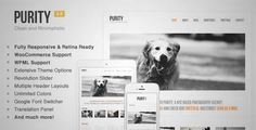 Download and review of Purity: Responsive, Clean, Minimal & Bold WP Theme, one of the best Themeforest Creatives themes