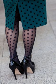 too many polka dots in one place for me but would do one or the other. LOVE the color of the skirt.