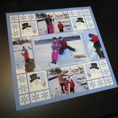 Get Close and Personal with photo tips to improve the look of your scrapbook pages. See how Mr Snow and Flakes help to create interest in your focal point. Christmas Scrapbook Layouts, Disney Scrapbook, Scrapbooking Layouts, Scrapbook Cards, Scrapbook Rooms, Scrapbook Examples, Scrapbook Templates, Scrapbook Room Organization, Craft Organization