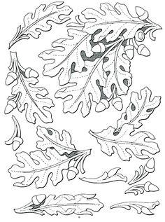leather leaf patterns …