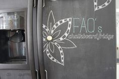 painting your fridge with chalkboard paint | the handmade home
