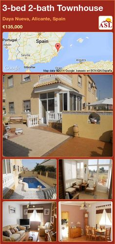 3-bed 2-bath Townhouse in Daya Nueva, Alicante, Spain ►€135,000 #PropertyForSaleInSpain