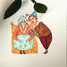 Grandmother Love #copic #marker #illustration #drawing #painting #moleskine